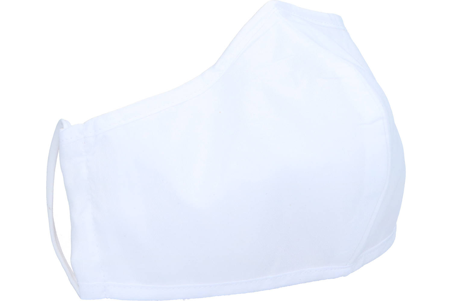 Face mask, Newco, white, washable, 2 ply, 5 pieces 2