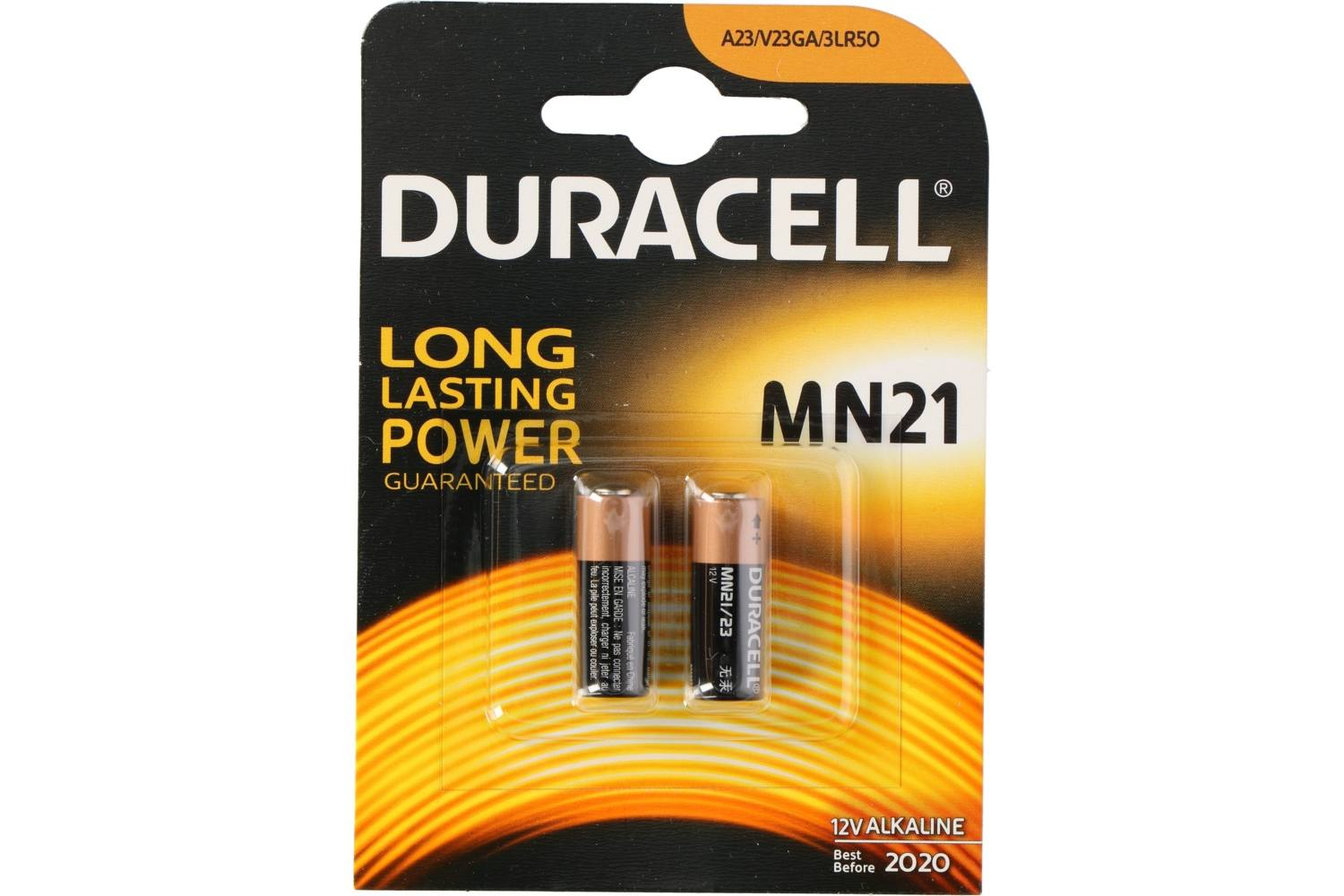 Battery, Duracell Plus Power, MN21, 2 pieces, A23/V23GA/3LR50 1