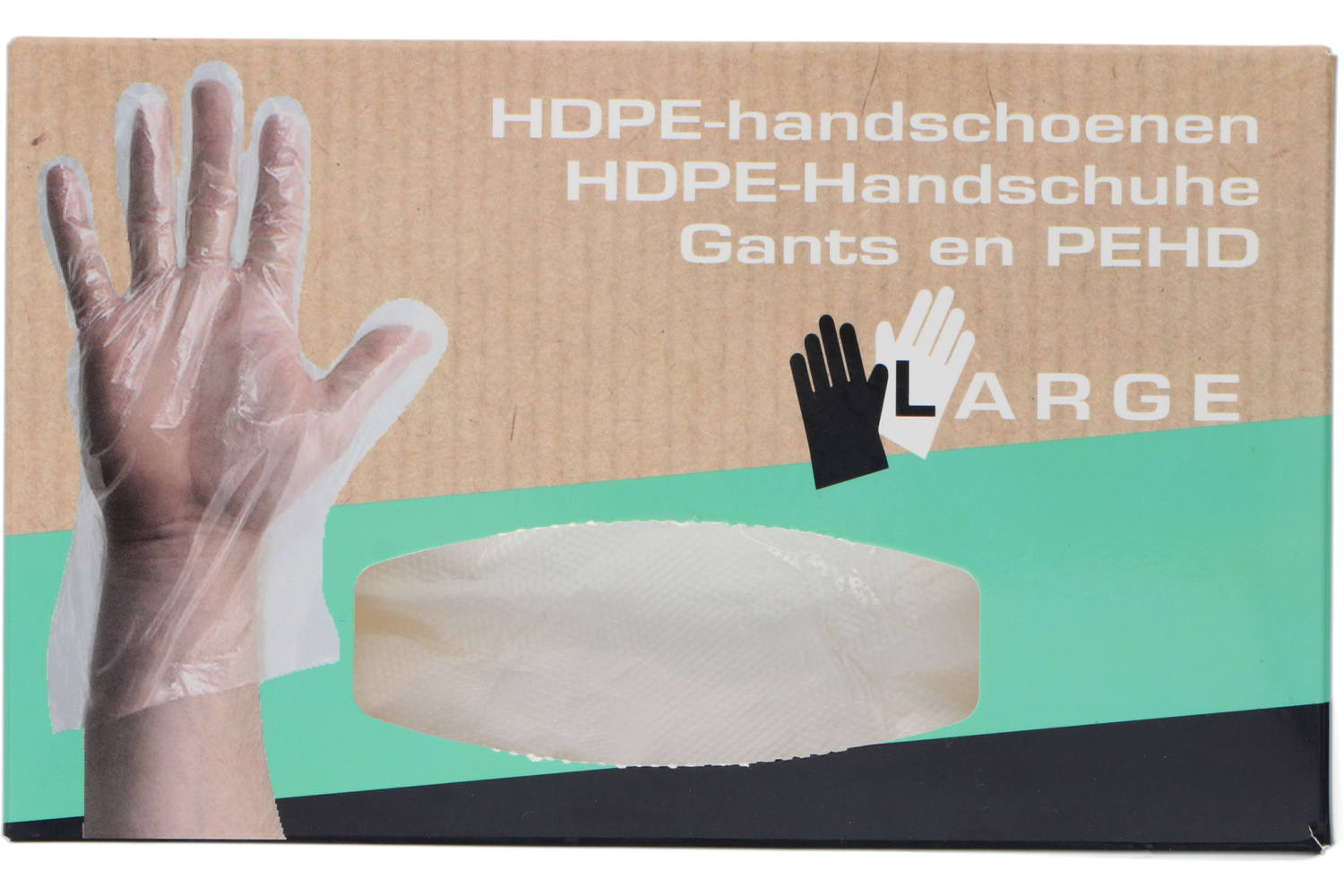 Gloves, Newco, HDPE, size L, disposable, 200 pieces 2