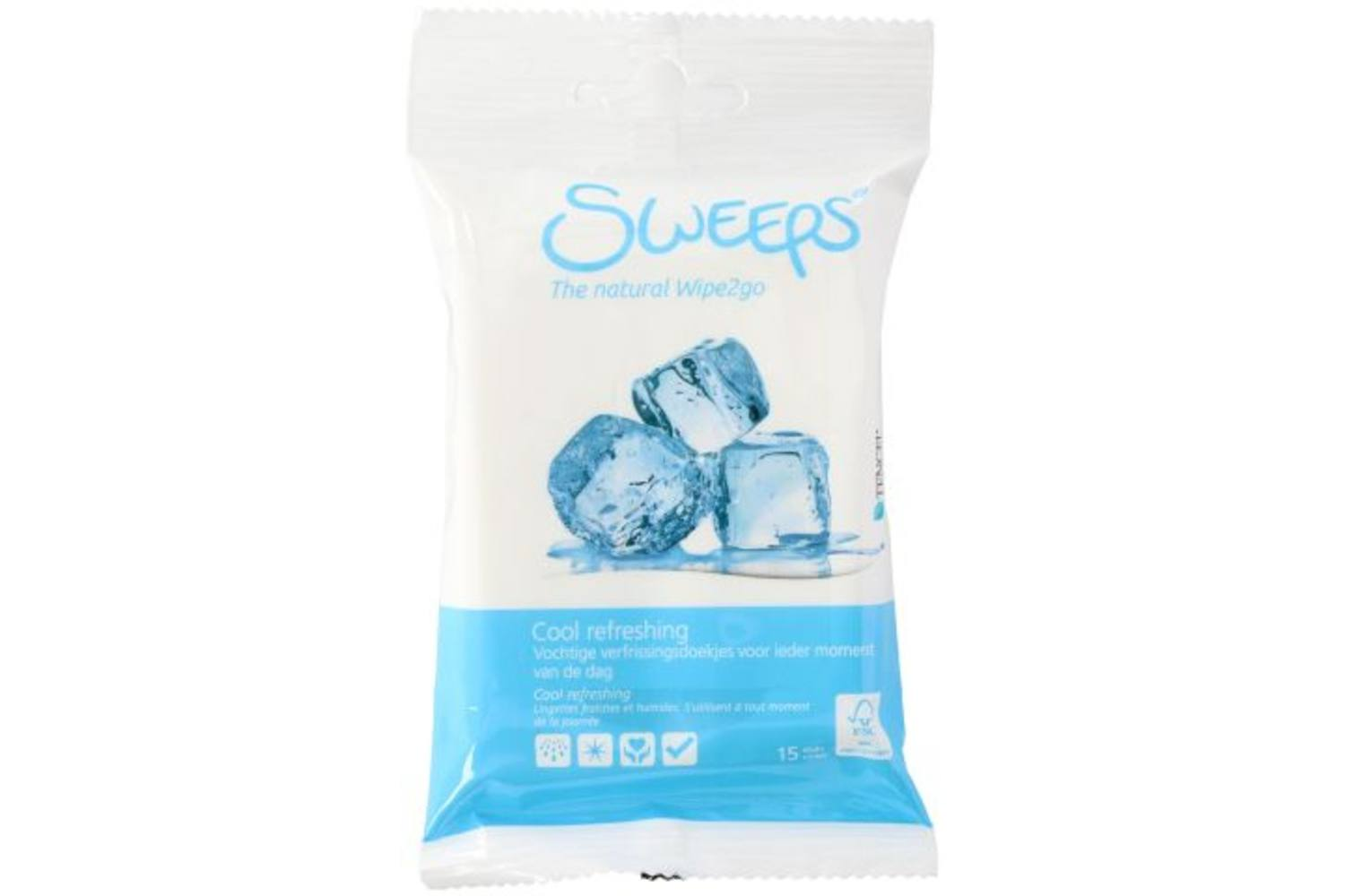 Wet wipes, Sweeps, refreshing, 15 pieces 1