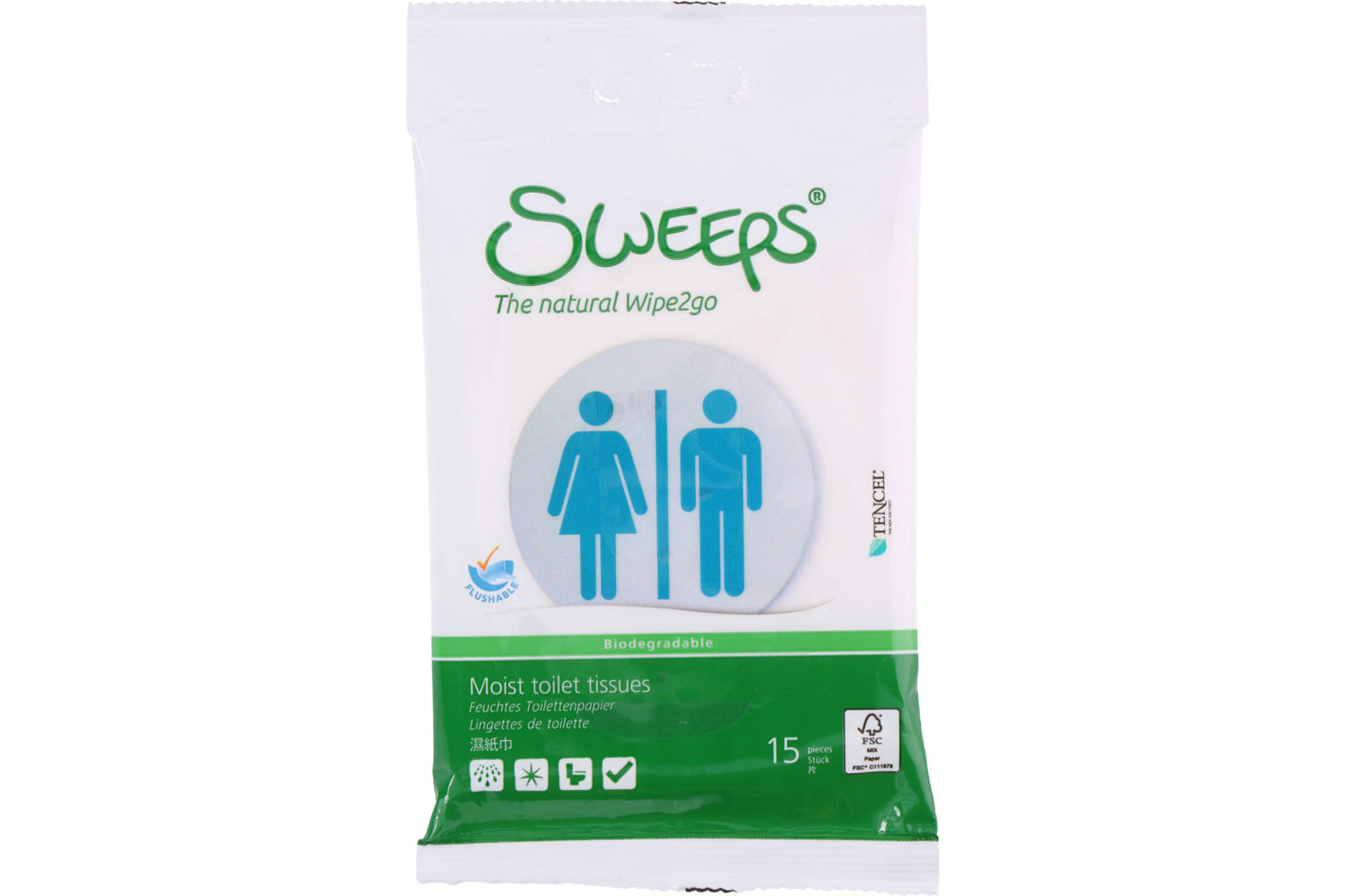 Wet wipes, Sweeps, toilet, 15 pieces 3