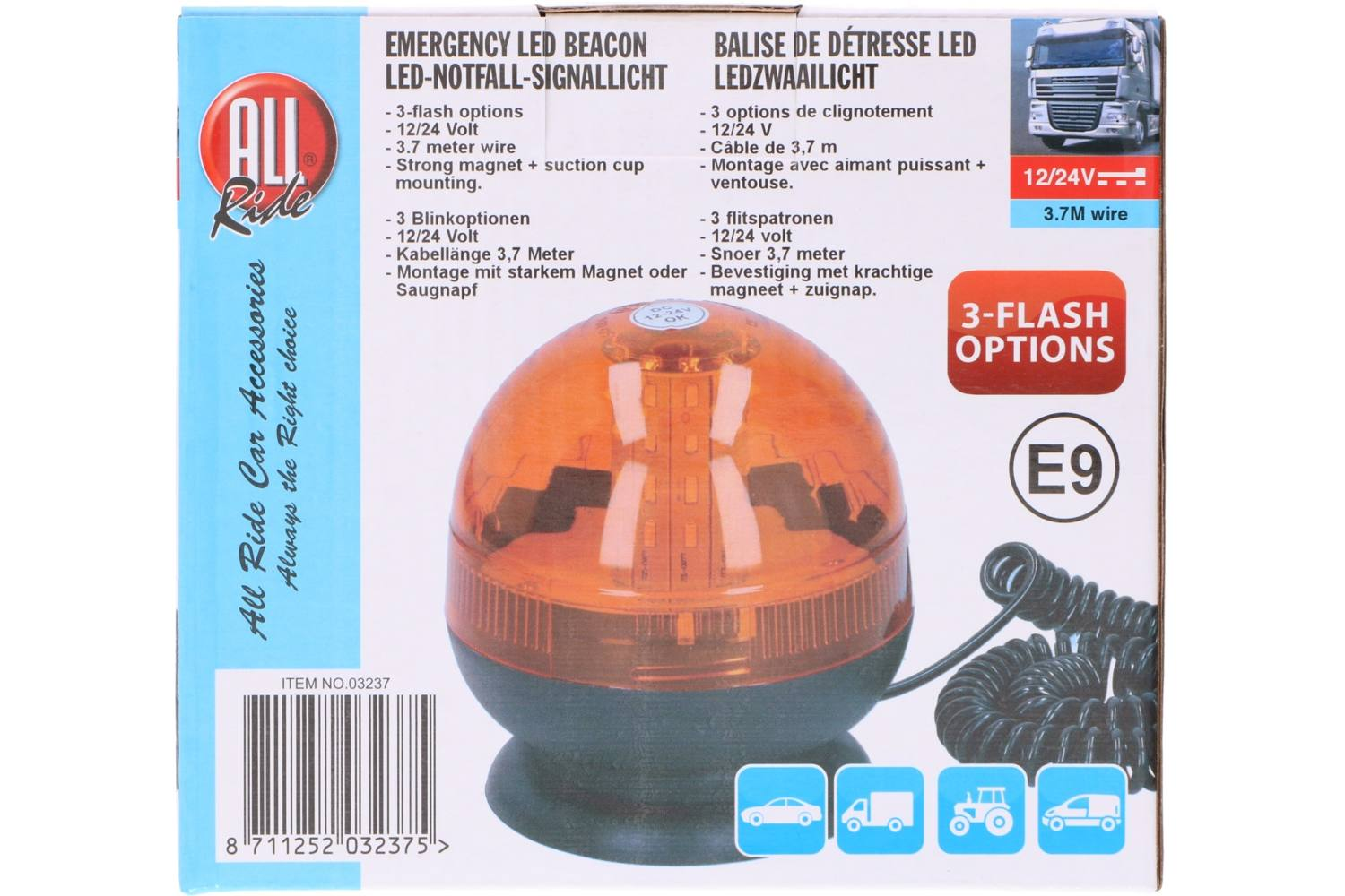 Truck bulb, AllRide, 12&24V, emergency beacon  2