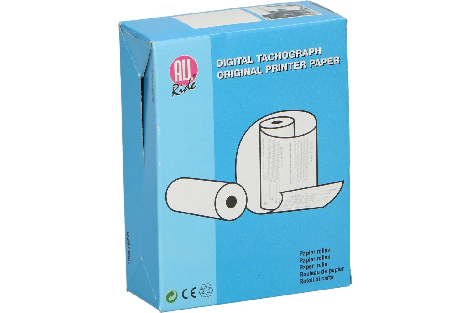 Digital tacho paper, AllRide, on roll 1