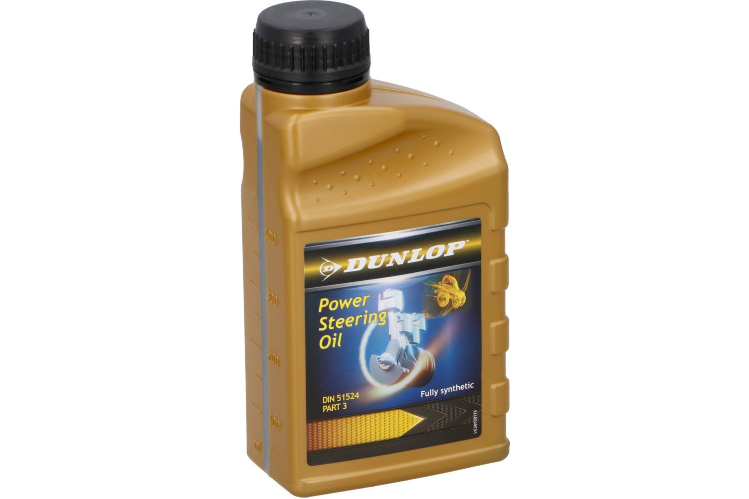 Lubricating oil, Dunlop, 500ml, full syntheticstuurbekrachtigingsolie 1