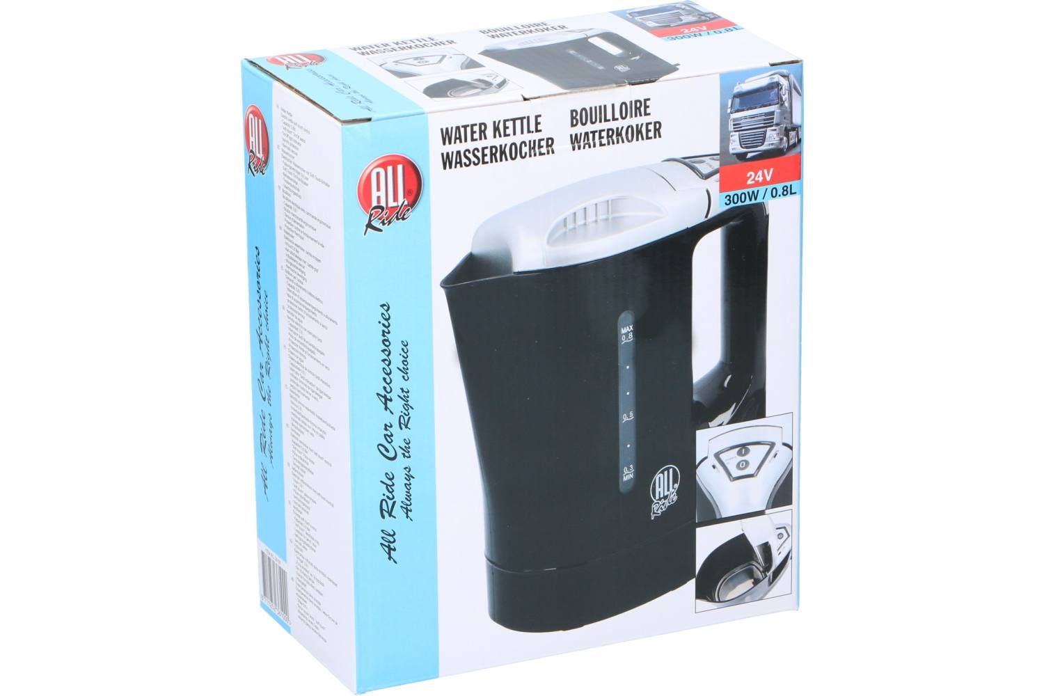 Water kettle, AllRide, 24V, 300W, 800ml 1