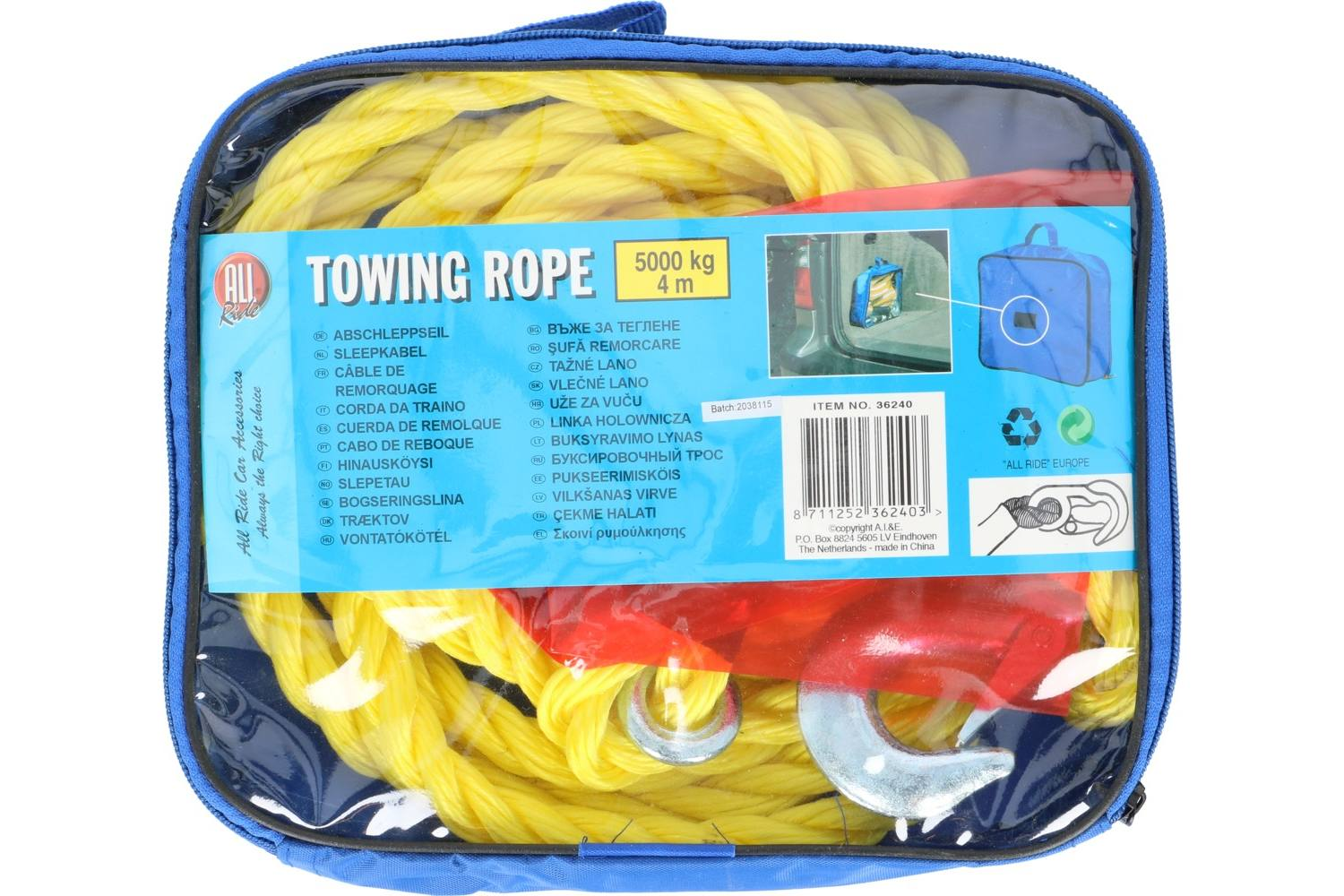 Tow rope, AllRide, 5000kg, with bag 1