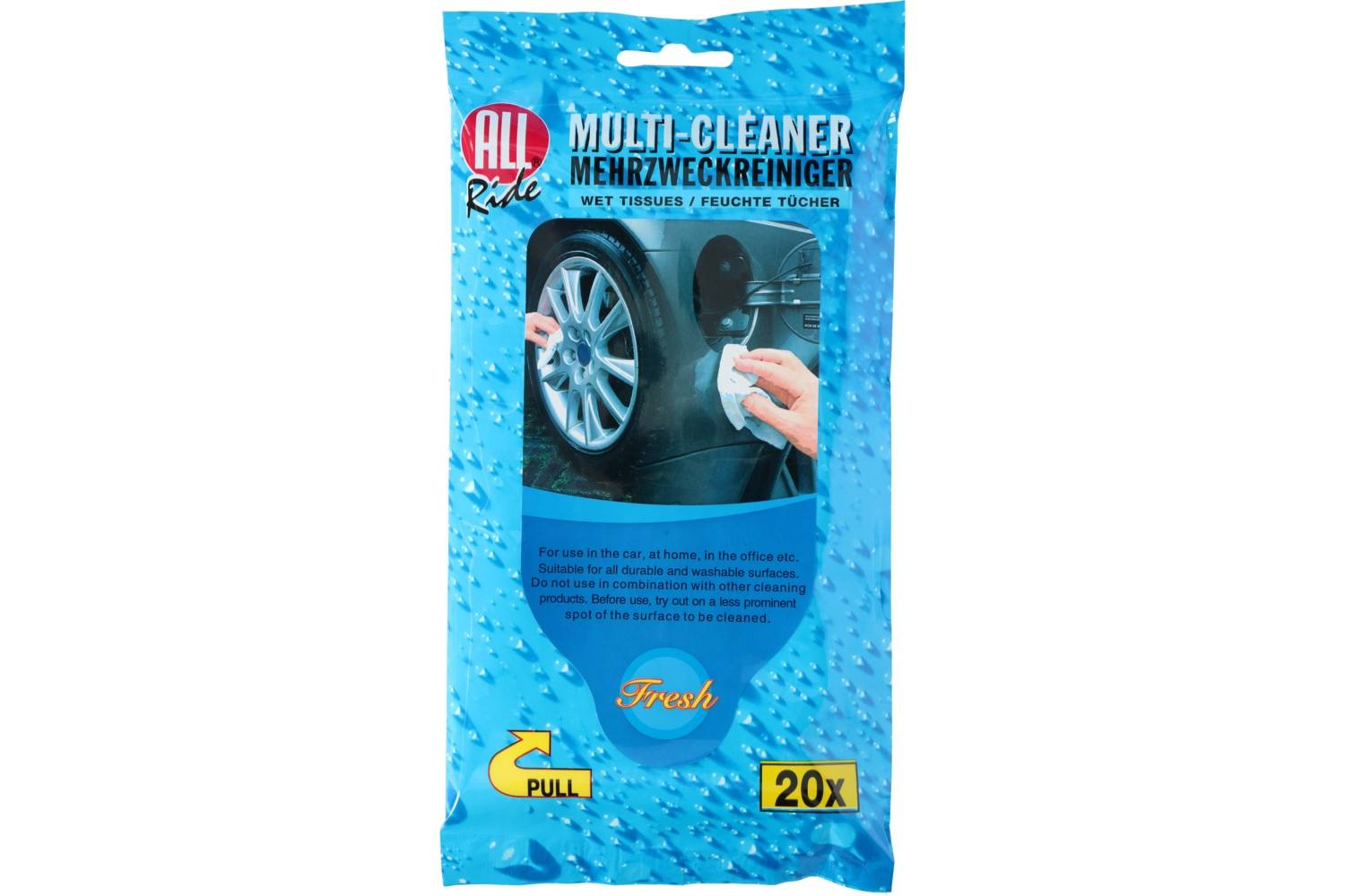 Cleaner, AllRide, multi reiniger, wet tissues, 20 1