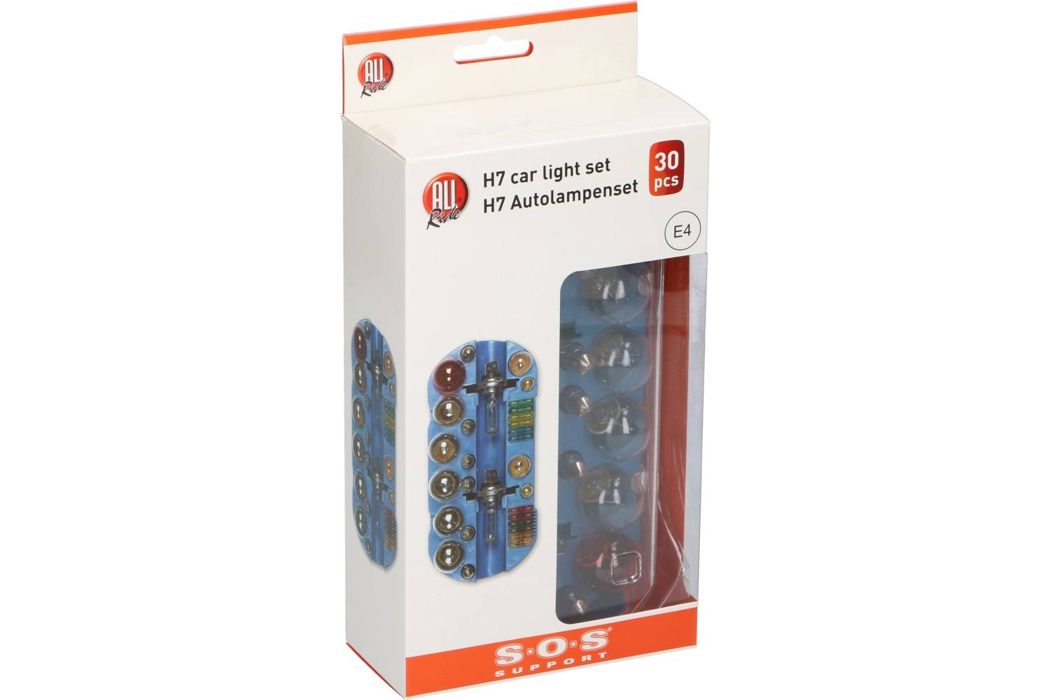 Car bulb set, AllRide SOS support, H7, 30 pieces 1