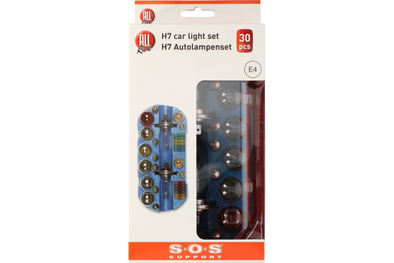 Car bulb set, AllRide SOS support, H7, 30 pieces 2