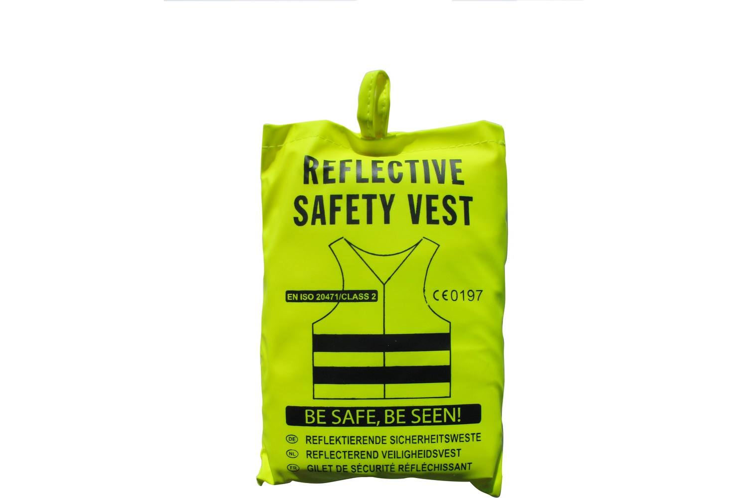 Reflective safety vest, AllRide SOS support, yellow, in bag 4