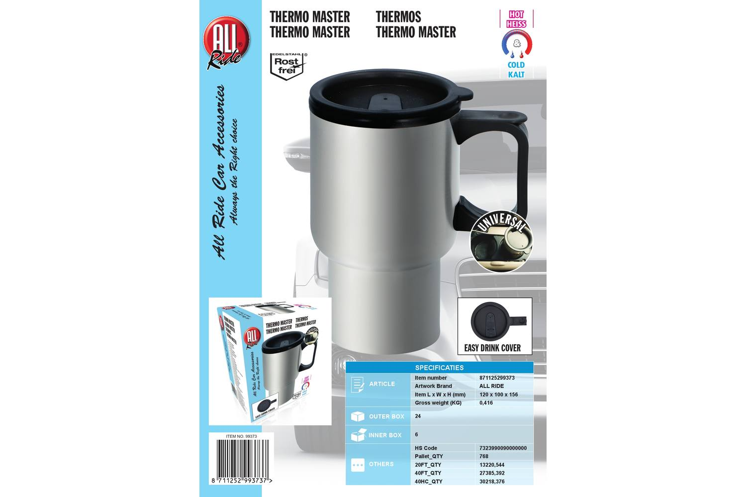 Thermo-mug, AllRide, stainless steel 2