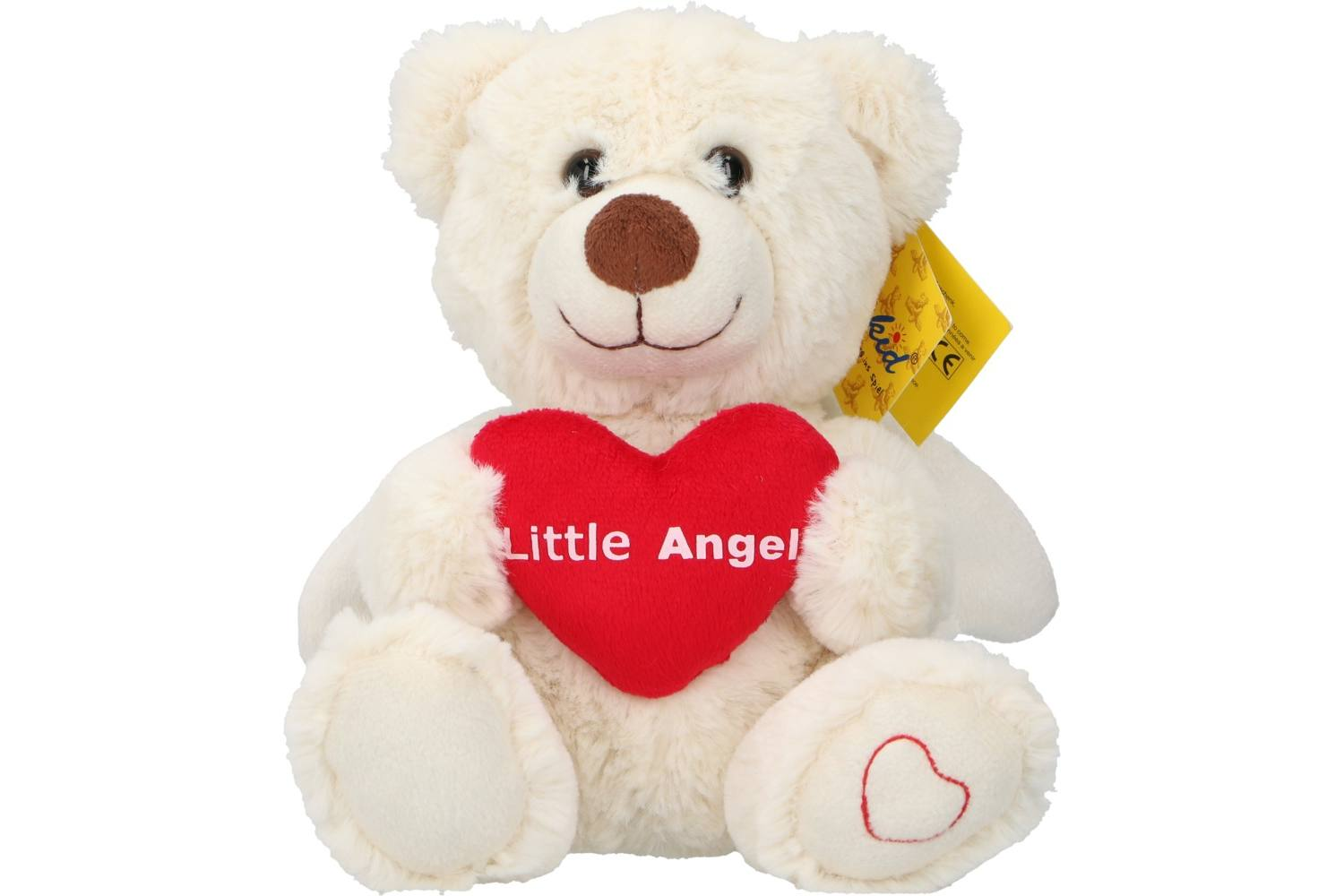Plush, Sunkid, bear angel heart, h20cm 2