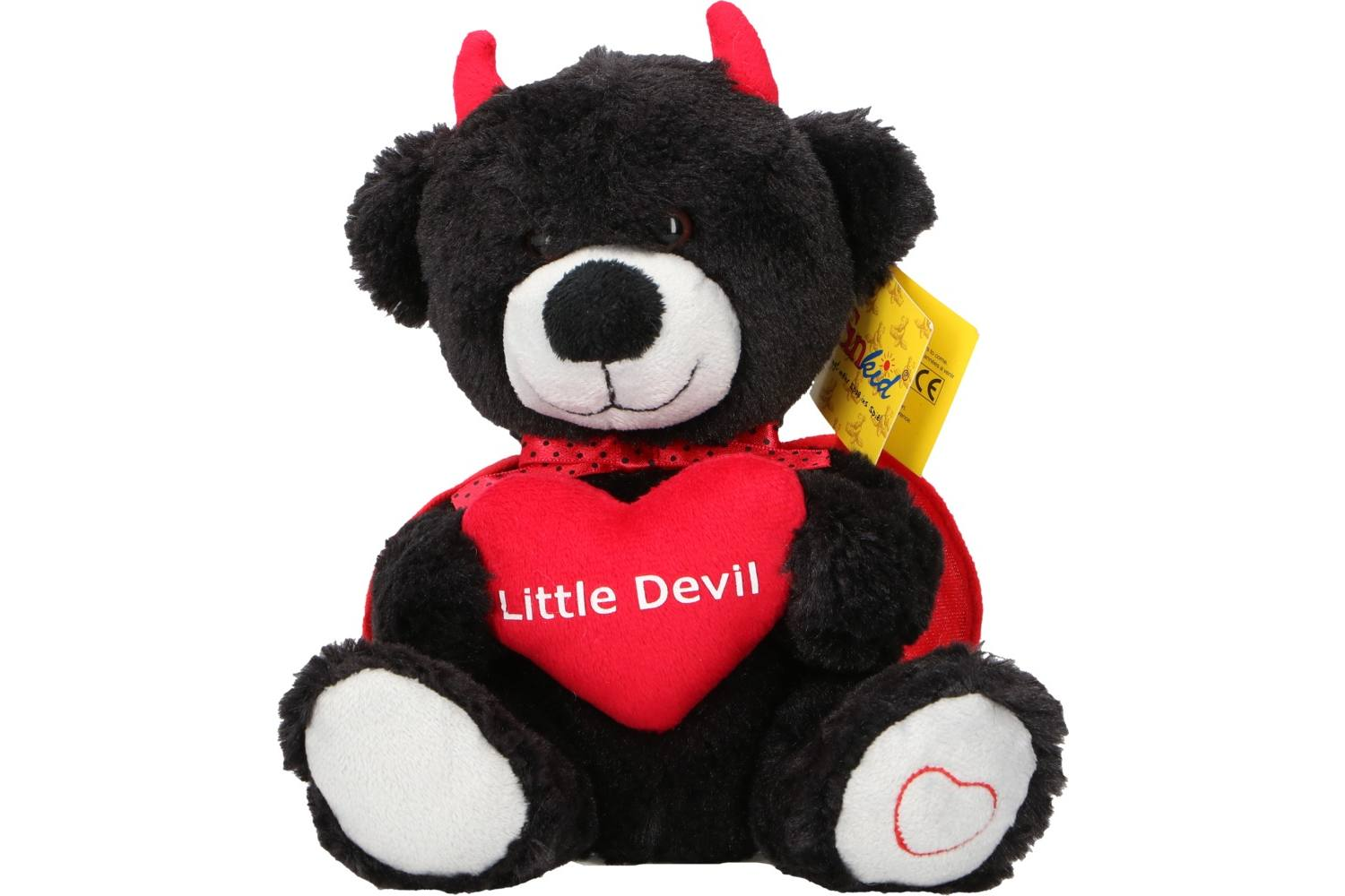 Plush, Sunkid, bear devil heart, h20cm 1
