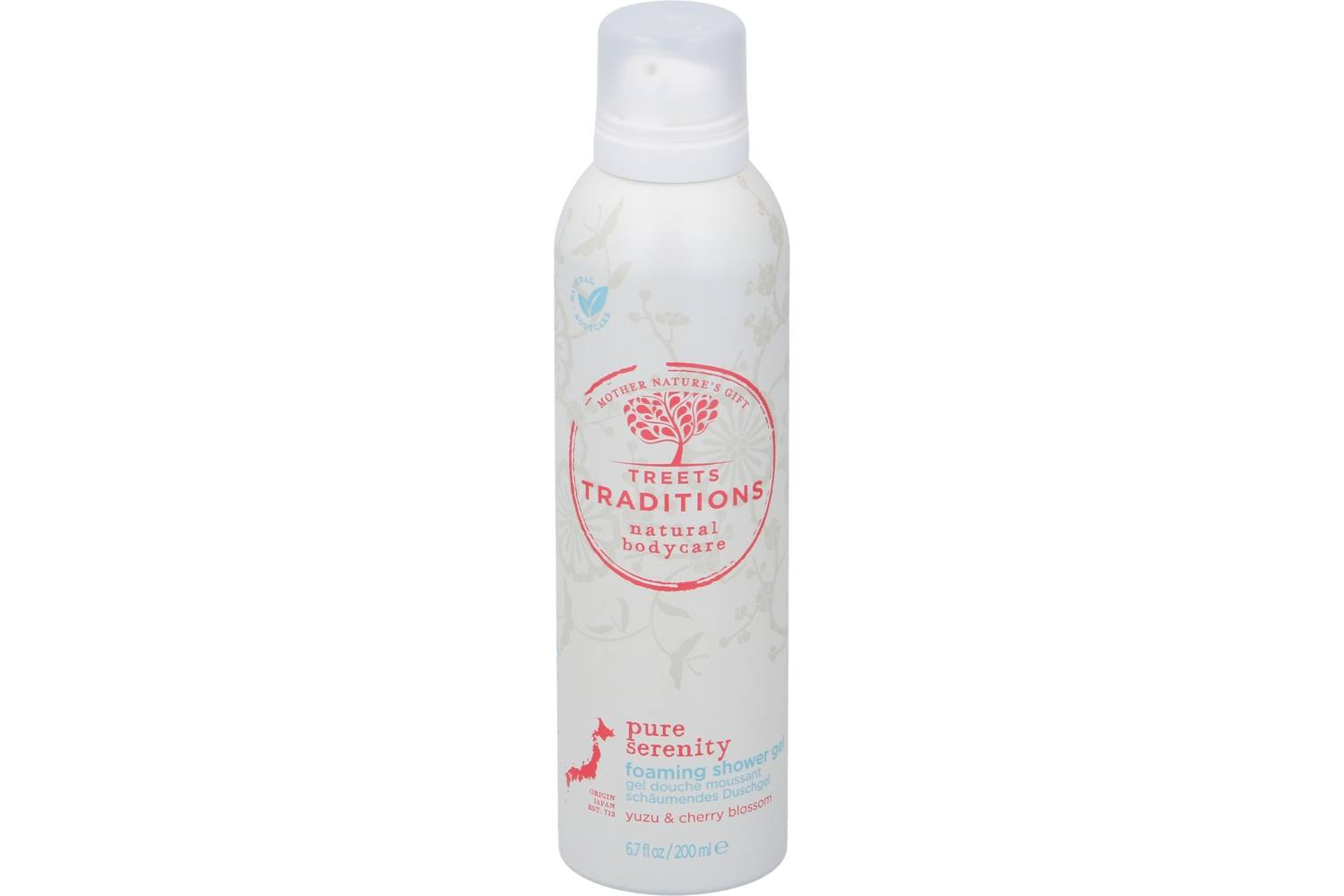 Body care, Treets, foaming shower gel, pure serenity, 200ml, 1 1