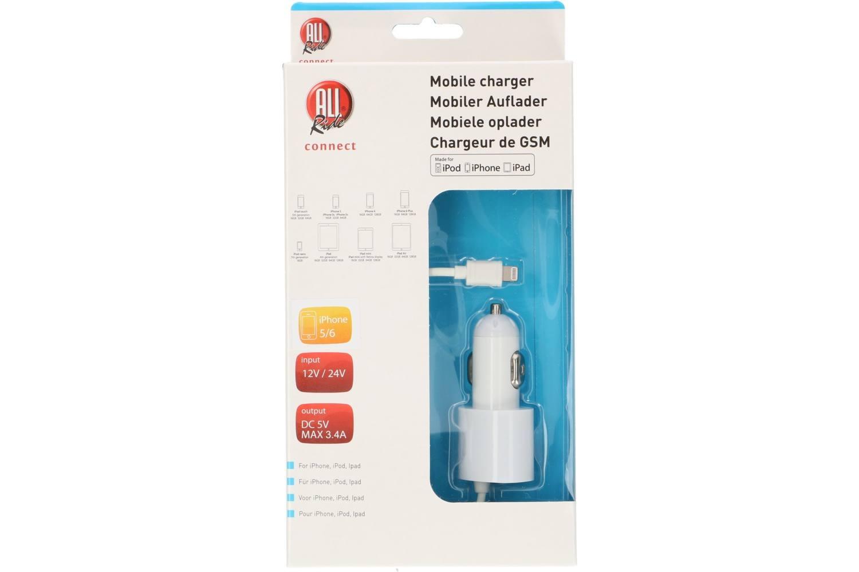 Cigarette lighter charger, AllRide Connect, iPhone 5-6-7, MFI ...
