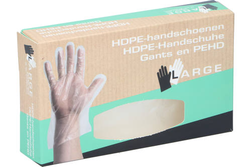 Gloves, Newco, HDPE, size L, disposable, 200 pieces 1