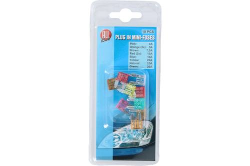 Plug-in fuse, AllRide, 4-30A, mini, 10 pieces 1
