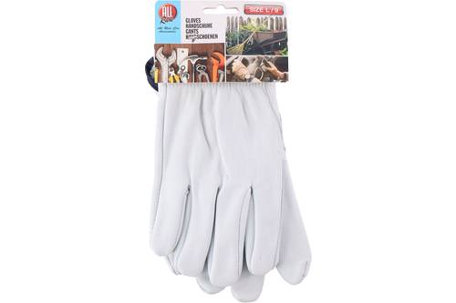 Working gloves, AllRide, leather, white, size XL 1