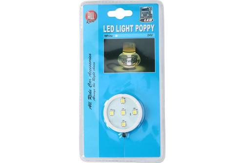 Poppy light, 5 LEDS, white, 24V 1