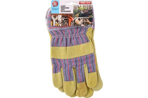 Working gloves, AllRide, yellow, leather, size XL 1