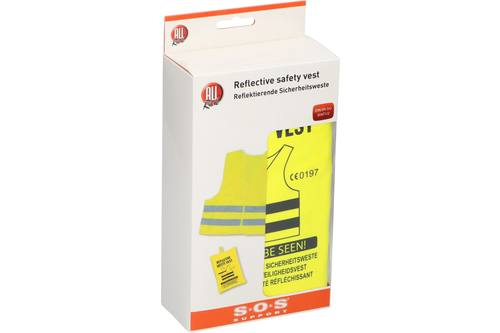 Reflective safety vest, AllRide SOS support, yellow, in bag 1