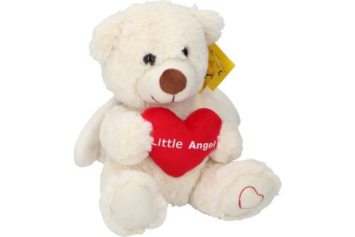 Plush, Sunkid, bear angel heart, h20cm 1