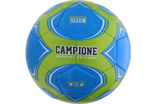 Football, Campione, green/blue, 22cm, size 5 1