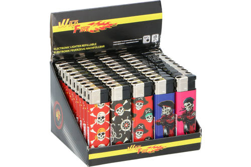 Lighter, WILD FIRE, pirate, electric, 50 pieces 1