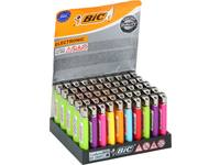 Lighter, BIC, solid colours, electronic, 50 pieces
